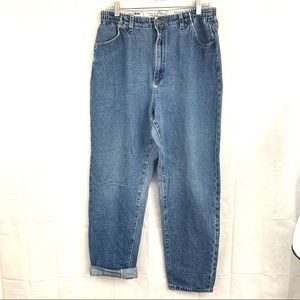 Vintage Riders high waisted mom jeans light wash